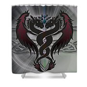 Dragon Duel Series 13 Shower Curtain