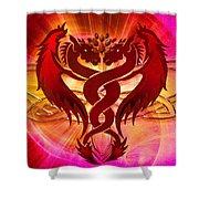 Dragon Duel Series 15 Shower Curtain