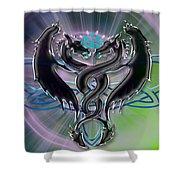 Dragon Duel Series 18 Shower Curtain