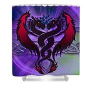 Dragon Duel Series 19 Shower Curtain
