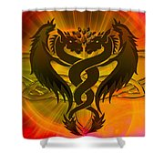 Dragon Duel Series 3 Shower Curtain