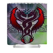 Dragon Duel Series 6 Shower Curtain