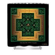 Dragon Egg Celtic Cross Shower Curtain