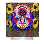 Dragon  Eyes N Monster Funny Face Cartoon Art By Navinjoshi  Shower Curtain