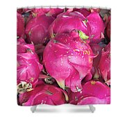 Dragon Fruit Closeup Background Shower Curtain