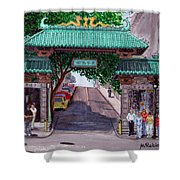 Dragon Gate Shower Curtain