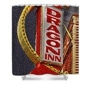 Dragon Inn Restaurant  Shower Curtain