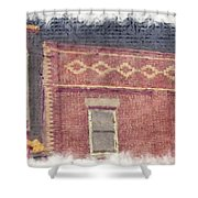Dragon Inn Restaurant Sign Shower Curtain