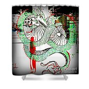 Dragon Inverted Shower Curtain