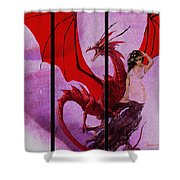 Dragon Power-featured In Comfortable Art Group Shower Curtain