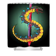 Dragon Spike One Shower Curtain