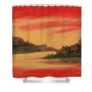 Dragon Sunset Shower Curtain