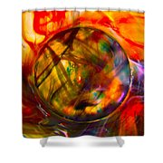 Dragon Travel Sphere Shower Curtain