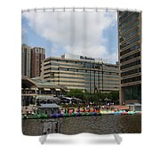 Dragonboats - Inner Harbor Baltimore Shower Curtain