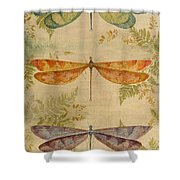 Dragonflies Among The Ferns-12415 Shower Curtain