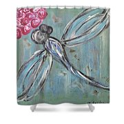 Dragonfly Baby Shower Curtain