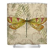 Dragonfly Daydreams-a Shower Curtain