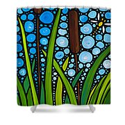 Dragonfly Pond By Sharon Cummings Shower Curtain