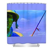 Dragonfly Soldier Shower Curtain