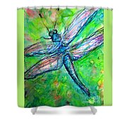 Dragonfly Spring Shower Curtain