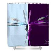 Dragonfly Work 1 Shower Curtain