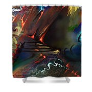 Dragonland Shower Curtain by Francoise Dugourd-Caput