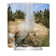 Dragon's Mouth Spring Shower Curtain