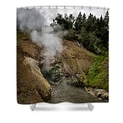 Dragon's Mouth Spring - Yellowstone Shower Curtain