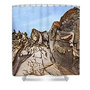 Dragon's Teeth Rocks Shower Curtain