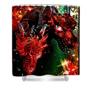 Dragons W/border Shower Curtain