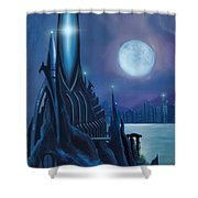 Dragontown Shower Curtain