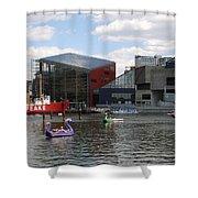 Dragoon Boats - Baltimore Inner Harbor Shower Curtain