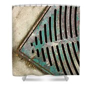 Drained Street  Shower Curtain