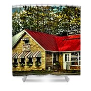 Drake's Inn On Seventh Lake Shower Curtain
