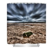 Drama At Freshwater West Shower Curtain