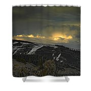 Drama Is Coming Shower Curtain by Donna Blackhall