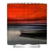 Drama Lake Shower Curtain