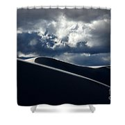 Drama Of The White Sands Shower Curtain
