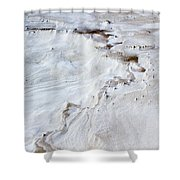 Dramatic Abstract At White Sands Shower Curtain