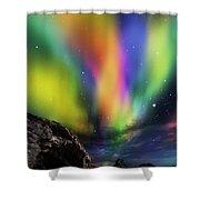 Dramatic Aurora Shower Curtain