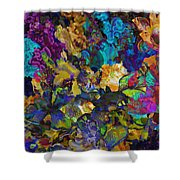 Dramatic Blooms 01 Shower Curtain