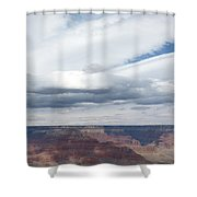 Dramatic Clouds Over The Grand Canyon Shower Curtain