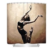 Dramatic Eclecticism Shower Curtain