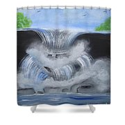 Dramatic Falls Shower Curtain