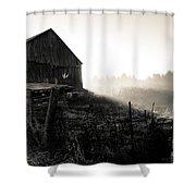 Dramatic Farm Sunrise Shower Curtain
