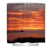 Dramatic Flaming Sunset Shower Curtain