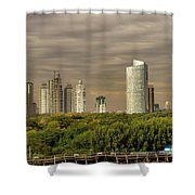 Dramatic Modern Buenos Aires Shower Curtain