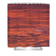 Dramatic Red Sky Shower Curtain