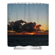 Dramatic Sea Sky At Dawn Shower Curtain
