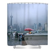 Dramatic Shanghai Shower Curtain